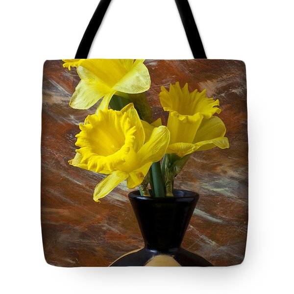 Three Daffodils Tote Bag