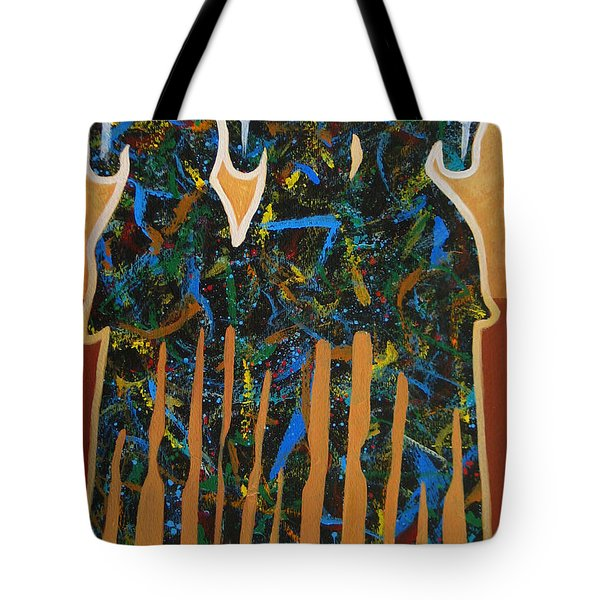 Three Drifters Tote Bag by Lance Headlee