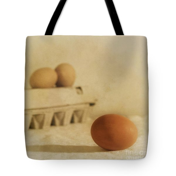 Three Eggs And A Egg Box Tote Bag