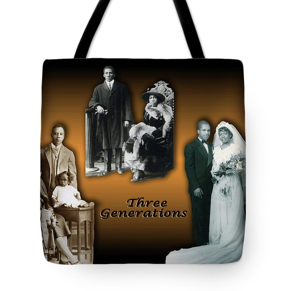 Three Generations Tote Bag by Terry Wallace