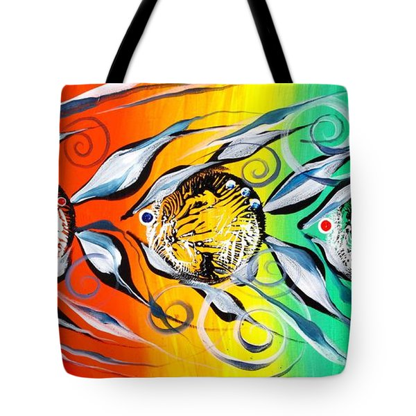 Three In A Row ... Three Tote Bag by J Vincent Scarpace