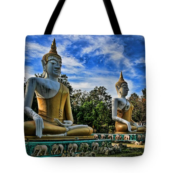 Three Of A Kind Tote Bag by Adrian Evans