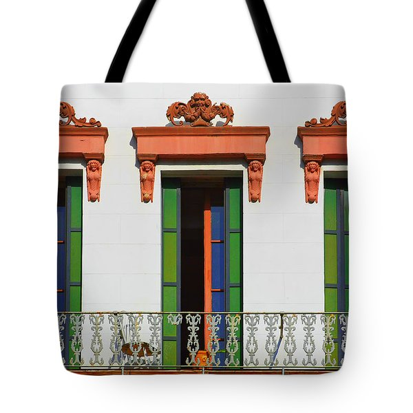 Three Of A Kind - The Windows In Old Sacramento Tote Bag by Christine Till