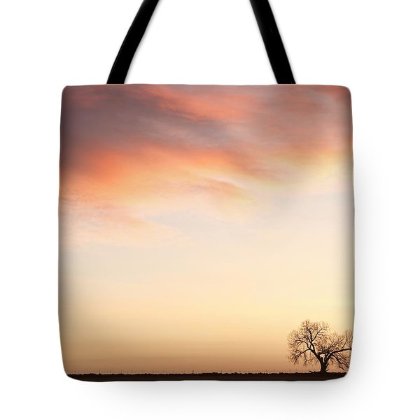 Three Trees Sunrise Sky Landscape Tote Bag by James BO  Insogna