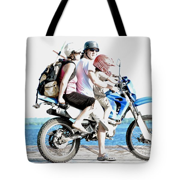 Tote Bag featuring the photograph Three Up by Britt Runyon