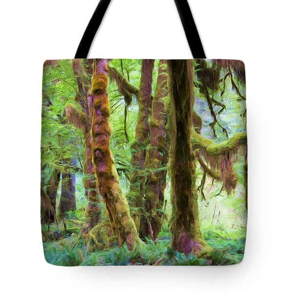 Through Moss Covered Trees Tote Bag by Heidi Smith