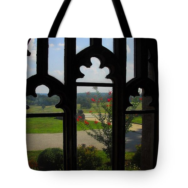 Through The Chapel Arches Tote Bag by Cindy Manero