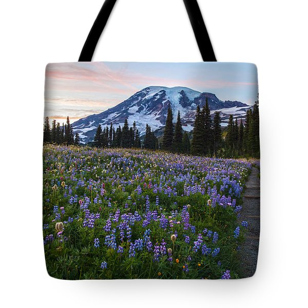 Through The Flowers Tote Bag by Mike Reid