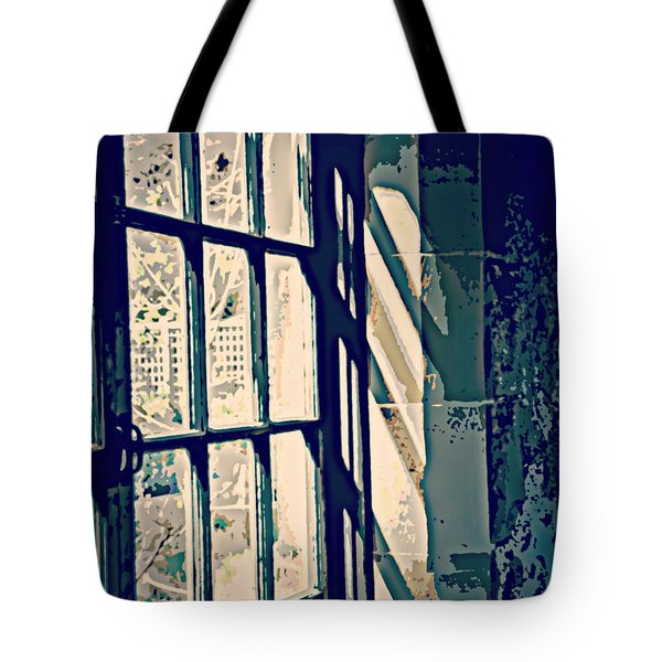 Tote Bag featuring the photograph View Through The Window - Painterly Effect by Marilyn Wilson