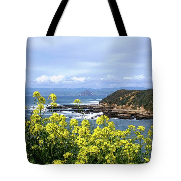 Tote Bag featuring the photograph Through Yellow Flowers by Lorraine Devon Wilke