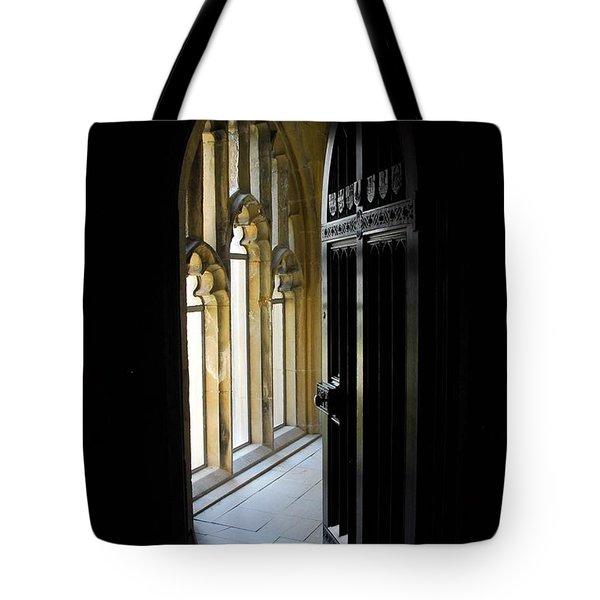 Thru The Chapel Door Tote Bag by Cindy Manero