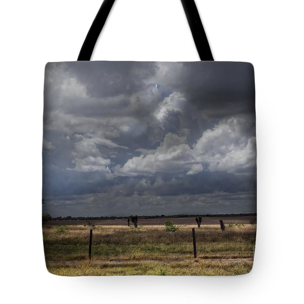 Thunder In The Distance Tote Bag by Dinah Anaya