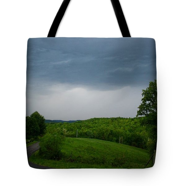 Tote Bag featuring the photograph Thunderstorm by Kathryn Meyer