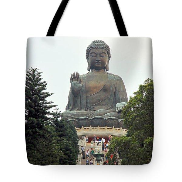 Tian Tan Buddha Tote Bag by Valentino Visentini
