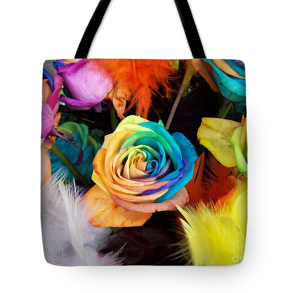 Tie Dyed Roses In Japan Tote Bag by Cheryl McClure