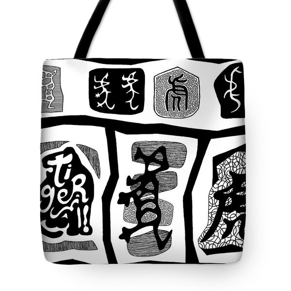 Tiger Characters Evolution2 Tote Bag by Ousama Lazkani