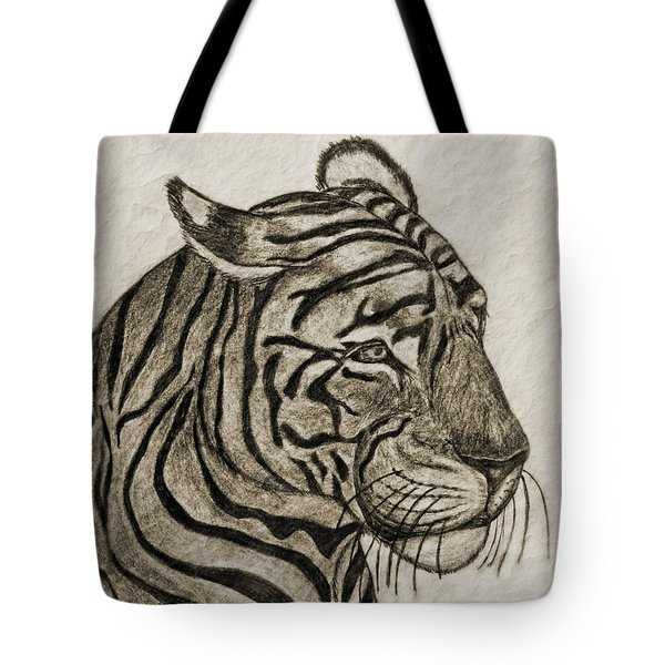 Tiger Iv Tote Bag by Debbie Portwood