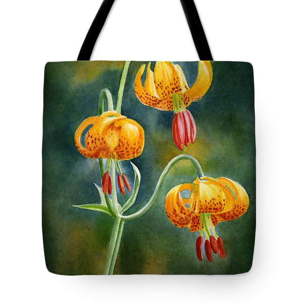 Tiger Lilies #3 Tote Bag by Sharon Freeman