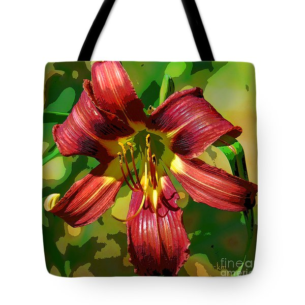 Tiger Lily Tote Bag by Cindy Manero