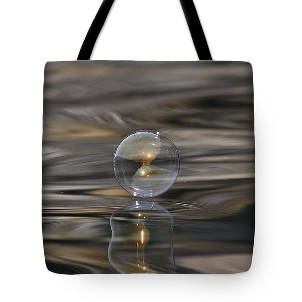 Tiger Water Bubble Tote Bag by Cathie Douglas