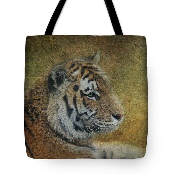Tigerlily Tote Bag by Claudia Moeckel