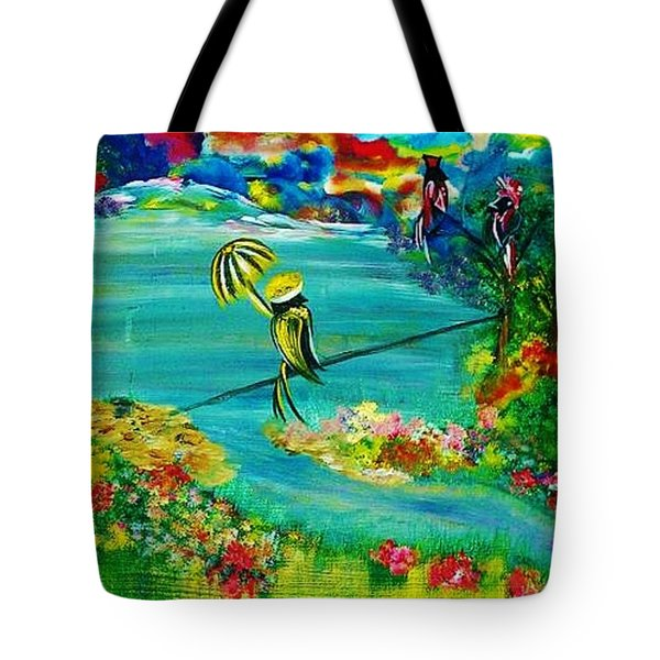 Tight Rope Tote Bag