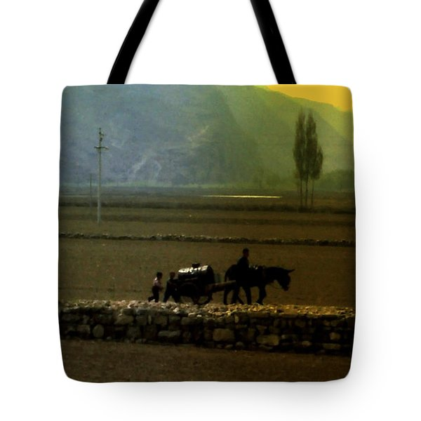 Tote Bag featuring the photograph 'til The Day Is Done by Lydia Holly