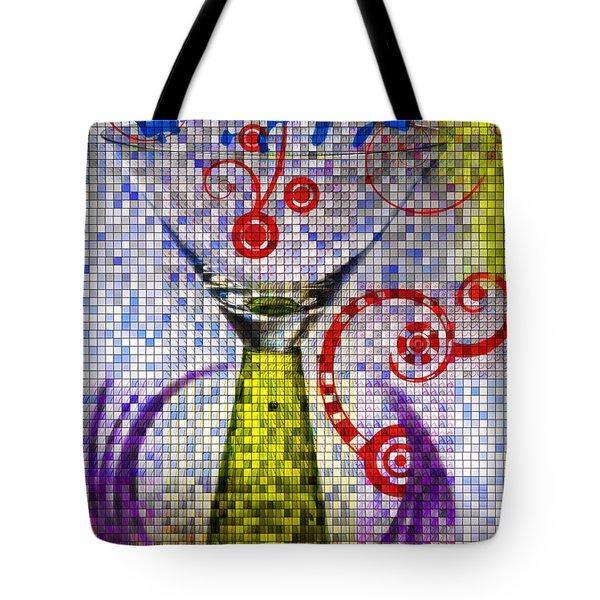 Tiled Glass Tote Bag