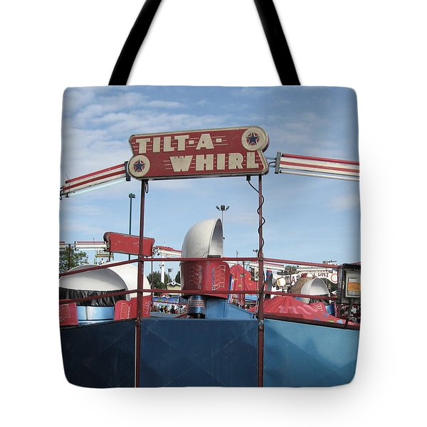 Tilt A Whirl Ride Tote Bag