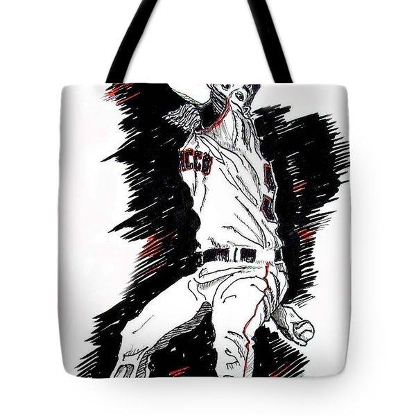 Tim Lincecum Tote Bag by Terry Banderas