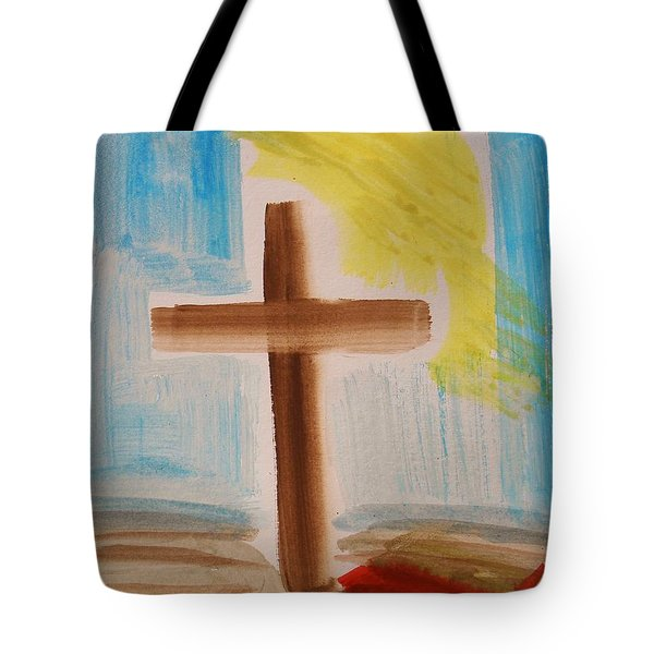 Tim Tebow's Cross-easter Monday Tote Bag