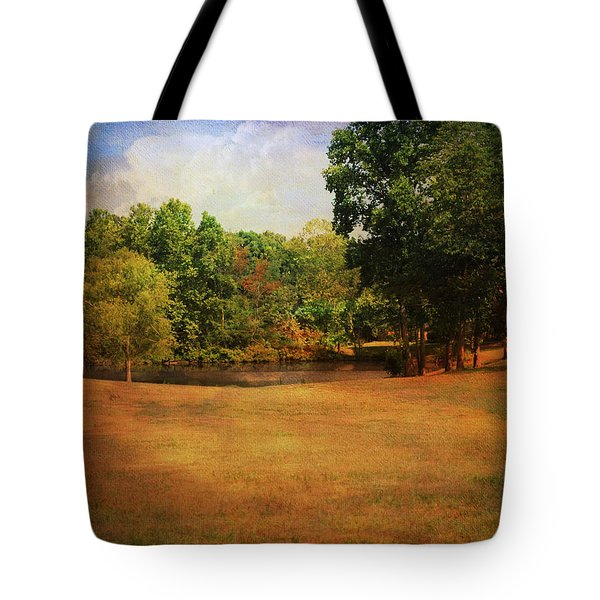 Timbers Pond Tote Bag by Jai Johnson
