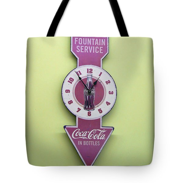 Time For Coke Tote Bag by Pamela Patch