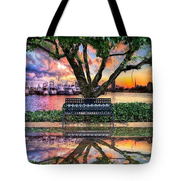 Time For Reflection Tote Bag by Debra and Dave Vanderlaan