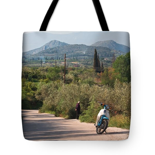 Time Out Tote Bag by Shirley Mitchell