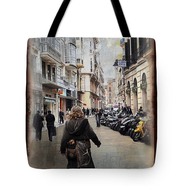 Time Warp In Malaga Tote Bag by Mary Machare