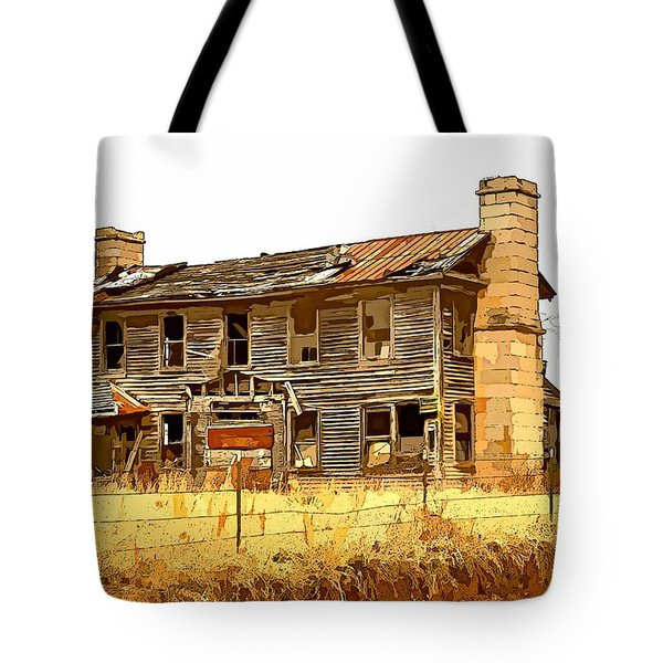 Times Past Abstract Tote Bag by Marty Koch