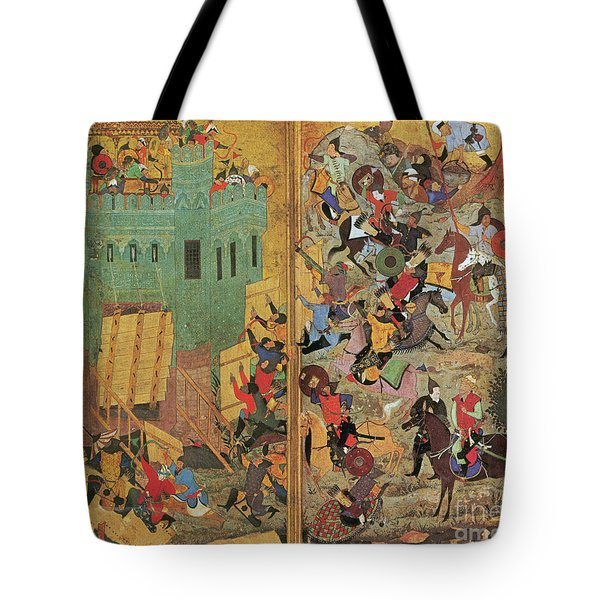 Timur And The Siege Of Smyrna 1402 Tote Bag by Photo Researchers