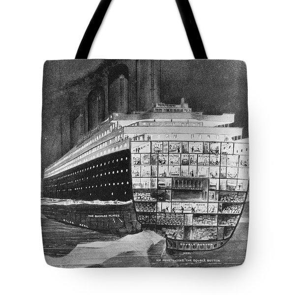 Titanic: Shipwreck, 1912 Tote Bag by Granger