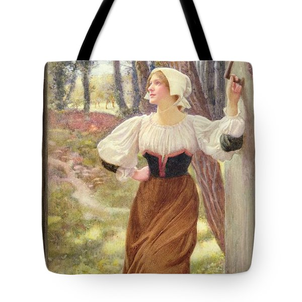 Tithe In Kind Tote Bag by Edward Robert Hughes