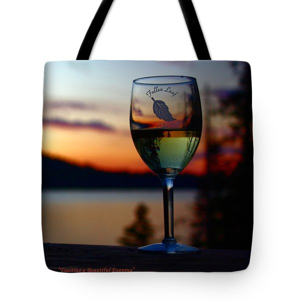 Toasting A Beautiful Evening Tote Bag