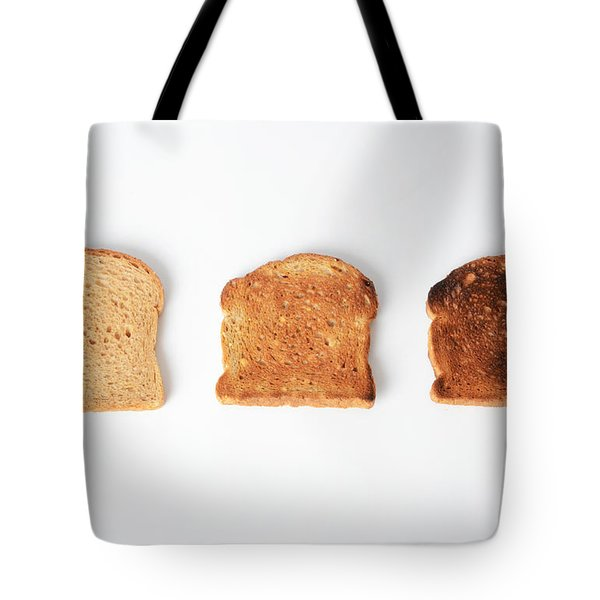Toasting Bread Tote Bag by Photo Researchers, Inc.