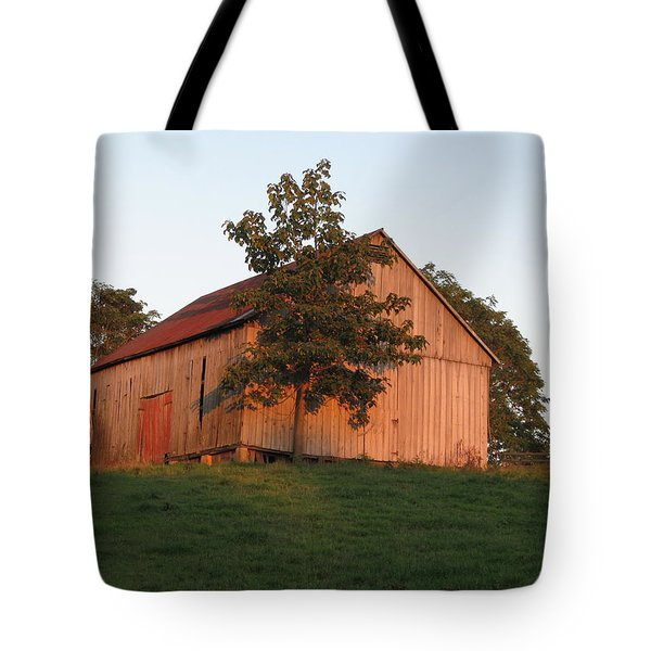 Tobacco Barn II In Color Tote Bag