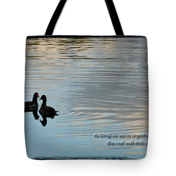 Tote Bag featuring the photograph Together by Steven Sparks