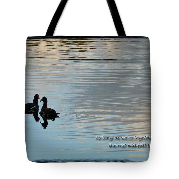 Together Tote Bag by Steven Sparks