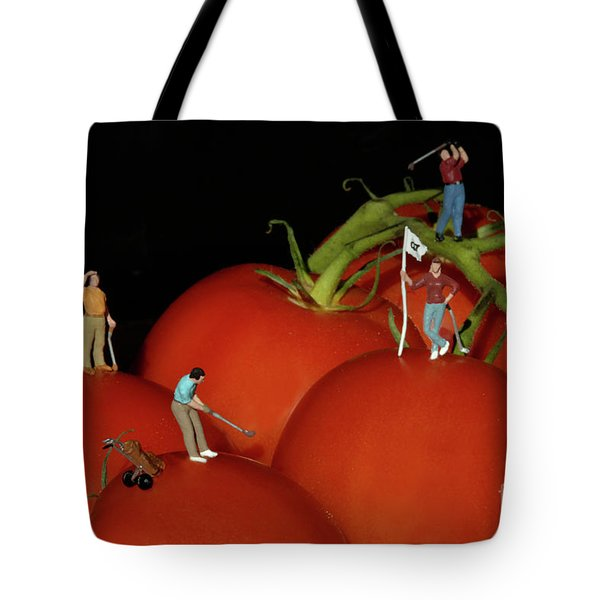 Tomato Beach Golf Classsic Tote Bag by Bob Christopher