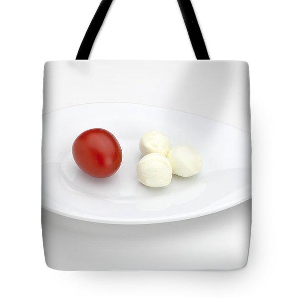 Tomato Mozzarella Tote Bag by Joana Kruse