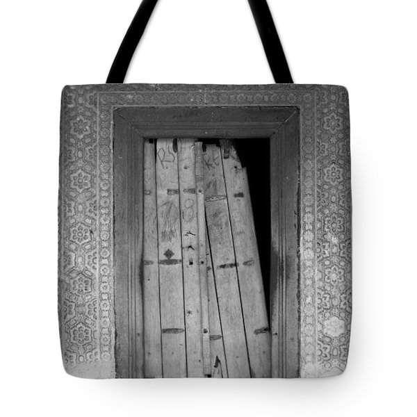 Tote Bag featuring the photograph Tomb Door by David Pantuso