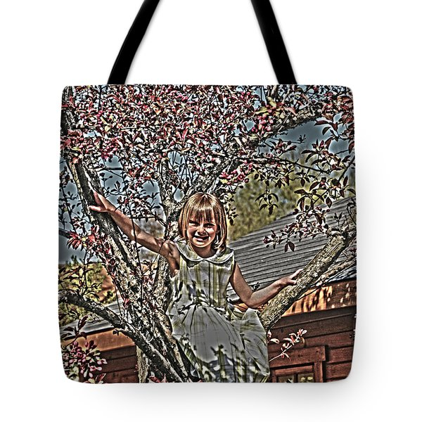 Tomboy In The Tree Tote Bag by Randall Branham