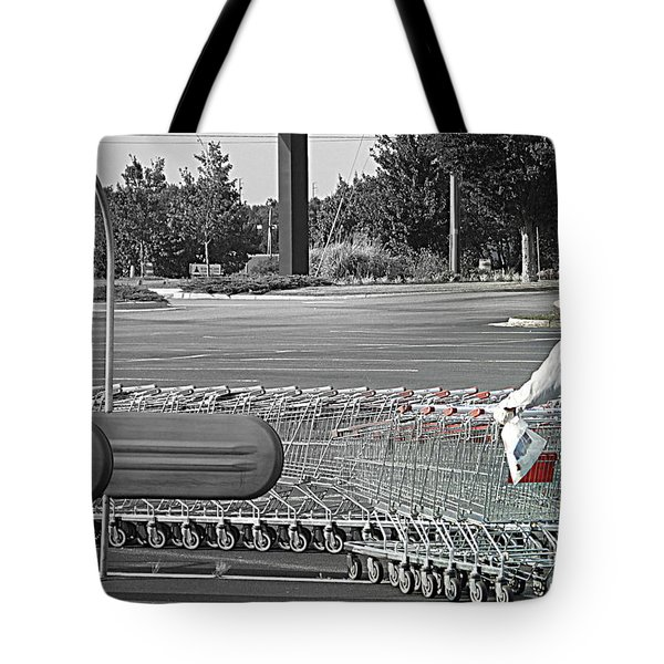 Tote Bag featuring the photograph Too Many Carts by Renee Trenholm